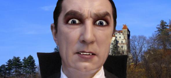 Still frame from talking Dracula