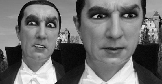 Black & White Dracula puppet image